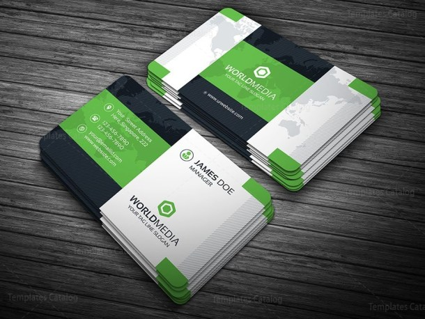 Modern Pro Business Card Template Green