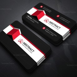 PSD Black Business Card Template