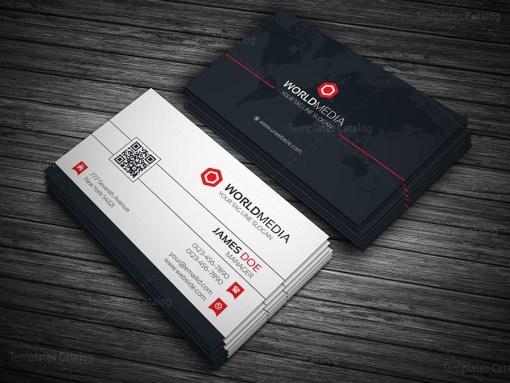 World Media Business Card Template