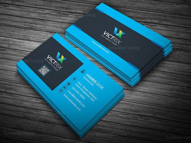 blue perfect business card template