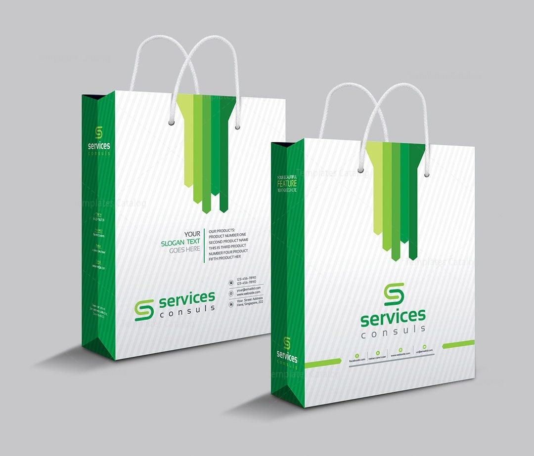 Company Shopping Bag Template