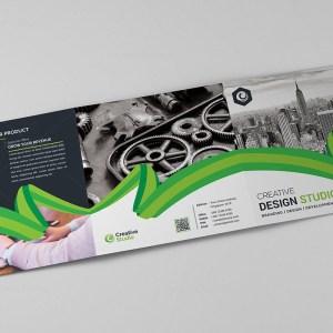 Tri-Fold Stylish Business Brochure Template