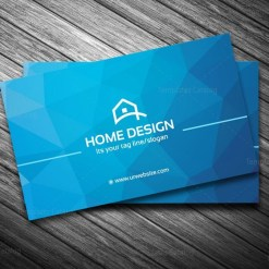home design business card template