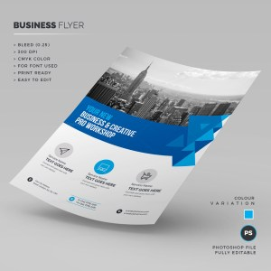Blue Business Corporate Flyer Template