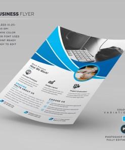 Blue Corporate Flyer Template
