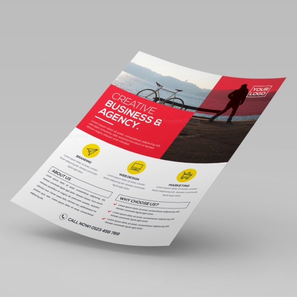 Creative Corporate PSD Flyer Template