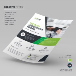 Logistic Corporate Flyer Template