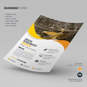 Taxi Corporate Flyer Template