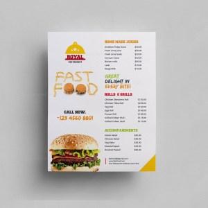 Food Menu Flyer Template