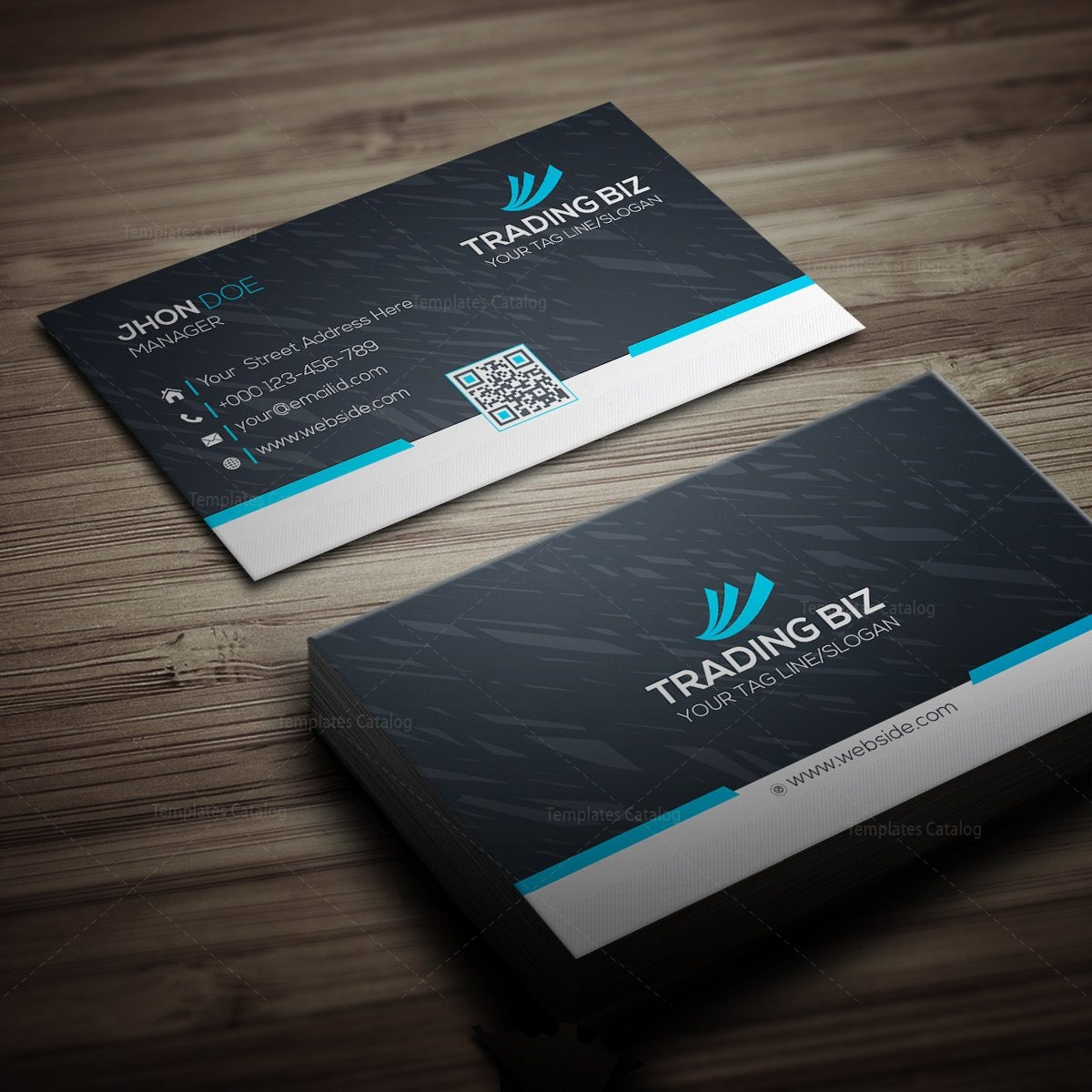 trading company business card 000269  template catalog