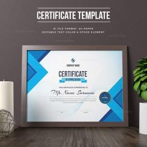 Editable Certificate Template