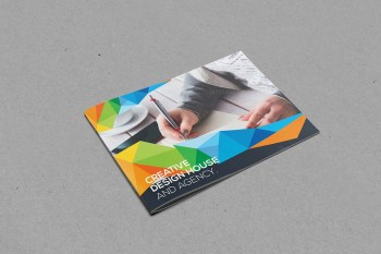 Colorful Landscape Bifold Brochure Template