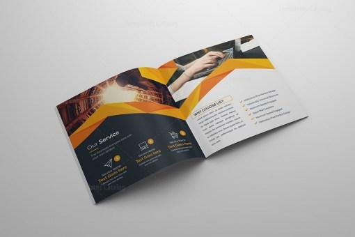 Perfect Bi-fold Square Brochure Template