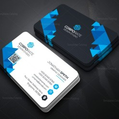 Professional Technology Business Card with Modern Design