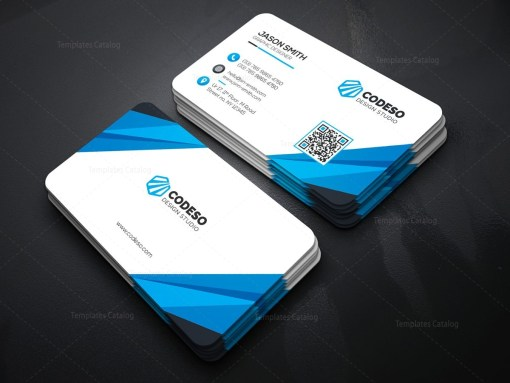 Technology Business Card with Modern Style