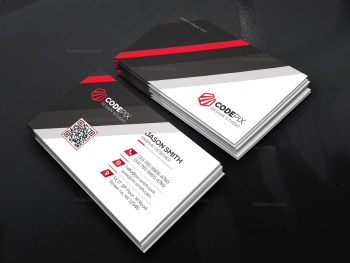 Business Card Template with Stripe Shapes