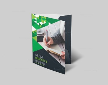 Business Folder Template with Stylish Design