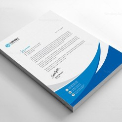 Business Letterhead Template with Modern Design
