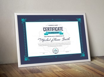 Certificate Template with Classic Design