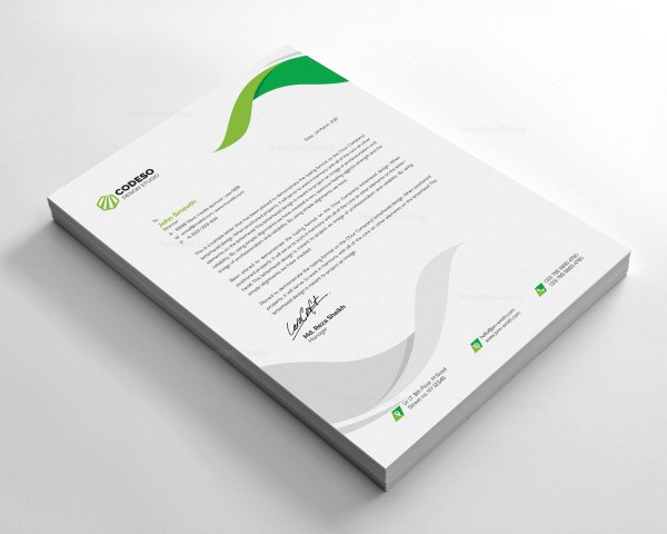 Clear Letterhead Design Template