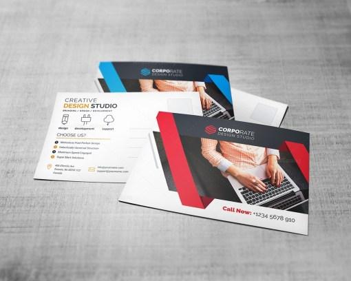 Corporate Postcard Template