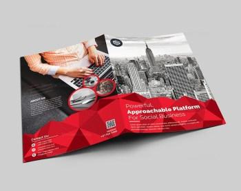 Corporate Presentation Folder Template with Diamond Shapes