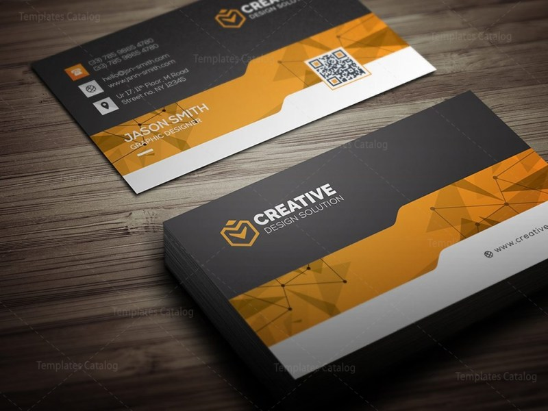 Creative Business Card Design Template 000462   Template Catalog Creative Business Card Design Template 3