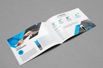 Landscape Bifold Brochure Template Design