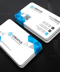 Modern Business Card with Diamond Shapes