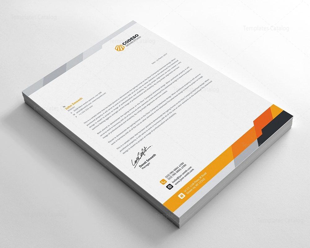 Modern Business Letterhead Template 000550 Template Catalog