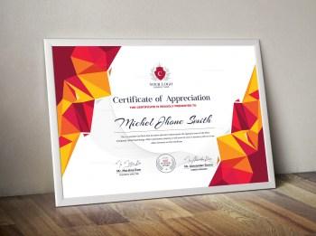 Modern Certificate Sample