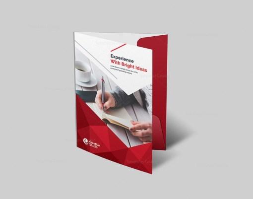 Presentation Folder Template with Stylish Design