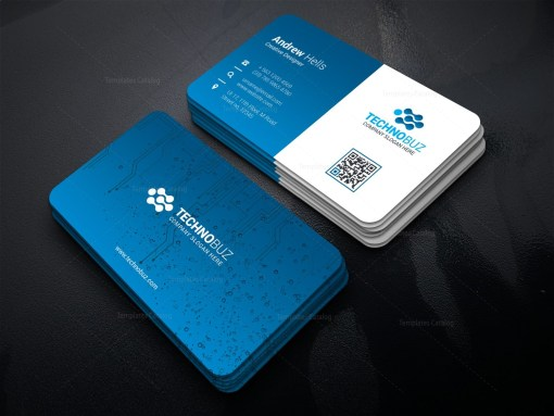 Circuit Technology Business Card Template