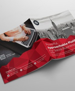 Classy Corporate Bi-Fold Brochure Template