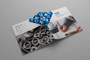 Corporate Bifold Square Brochure Design