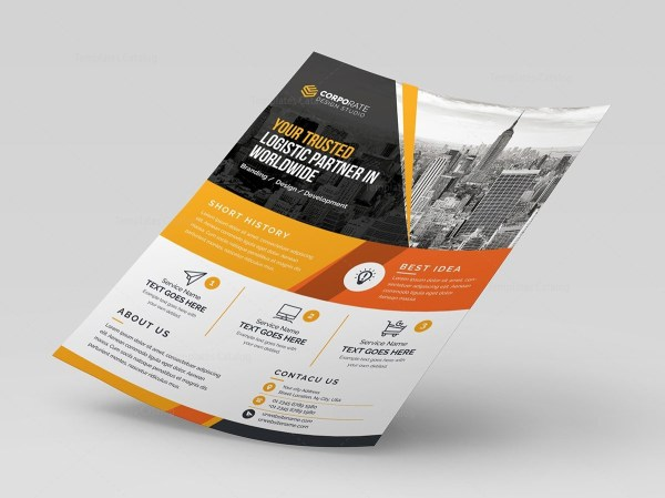 Corporate Flyer with Different Color Variations