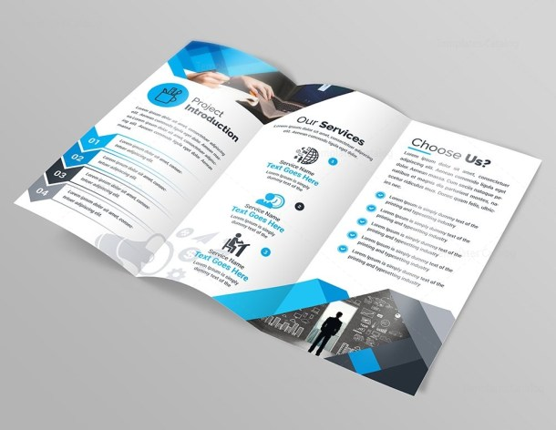 Design Studio Modern Tri-Fold Brochure Template