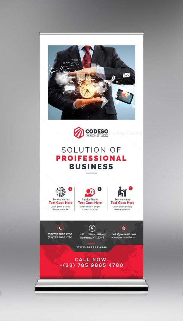 Discount Roll Up Banner Template
