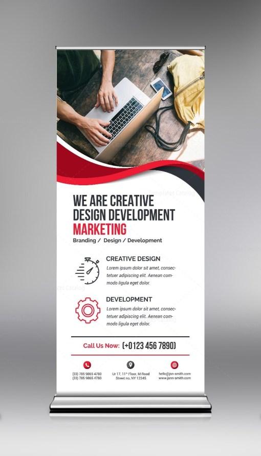 Elegant PSD Roll-Up Banner Template
