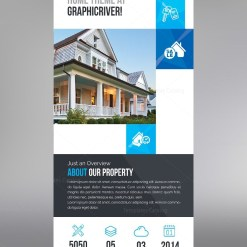 Elegant Real Estate Roll Up Banner Template