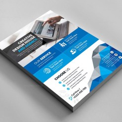 Futuristic Corporate Flyer Template