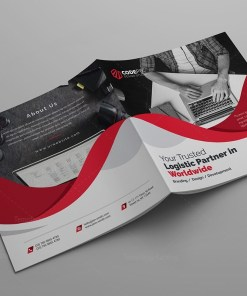 Godlike Corporate Square Bi-Fold Brochure Template