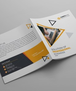 Iris Plain Corporate Bi-Fold Brochure Template
