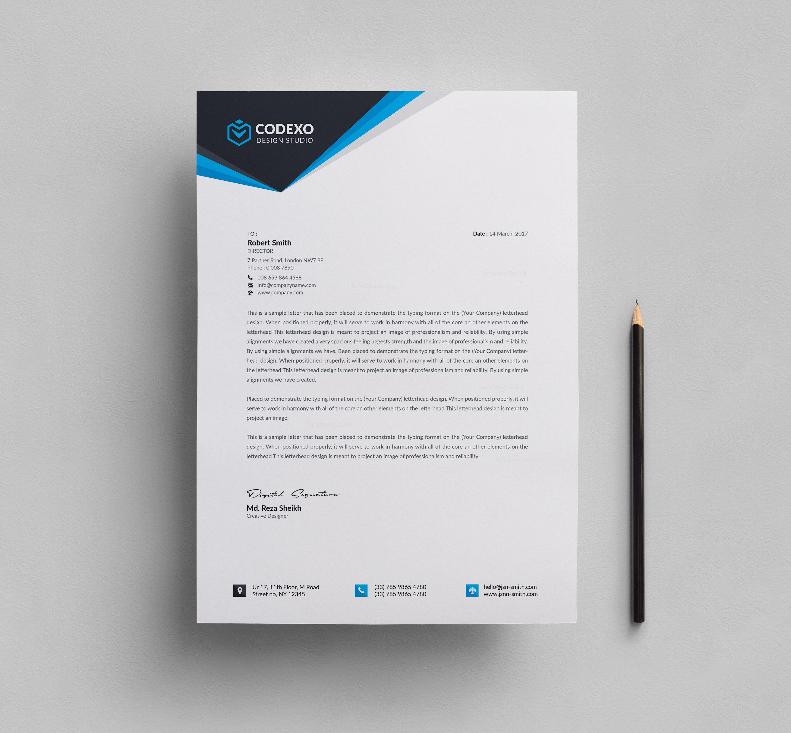Create Free Letterhead Design: Letterhead Design Templates 000610