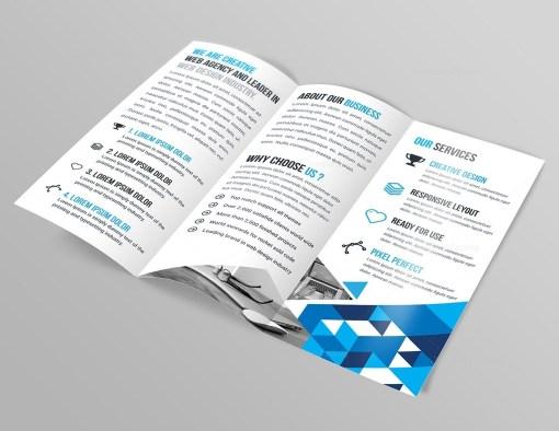 Lily Tri-Fold Corporate Brochure Template