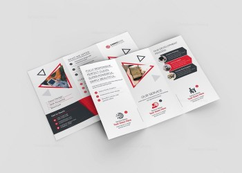 Lotus Corporate Tri-Fold Brochure Template