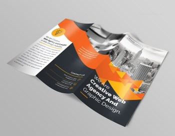 Premium Brochure Template with Triangle Shapes