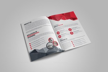 Premium Stylish Bi-Fold Brochure Template