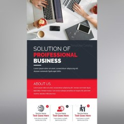 Roll Up Banner Template with Elegant Design