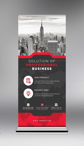 Sale Roll Up Banner Template